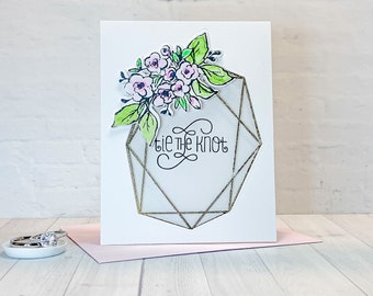 Floral Wedding Card | Tie the Knot Wedding Card