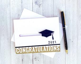 Graduation Cap Spinner Card | Interactive Graduation Card | Graduation Card 2021