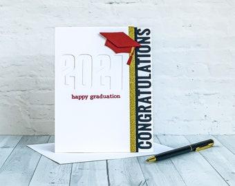 Happy Graduation | Congratulations 2021 Graduation Card | Red