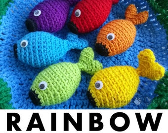 Rainbow Fishing Game and Pond Pattern