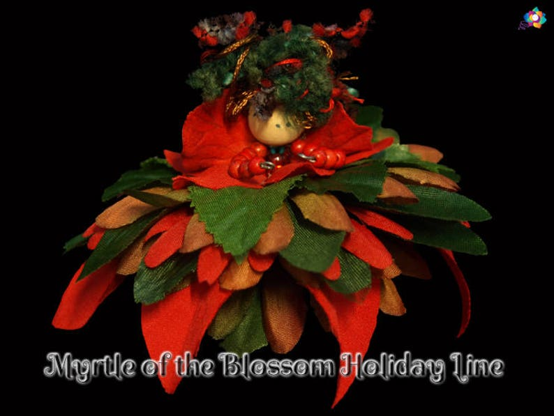 Myrtle of the Blossom Holiday Line Fairy Faerie OOAK Doll image 0