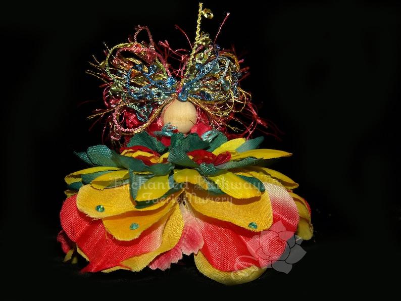 Nova the Flower Petal Faerie Fairy OOAK image 0