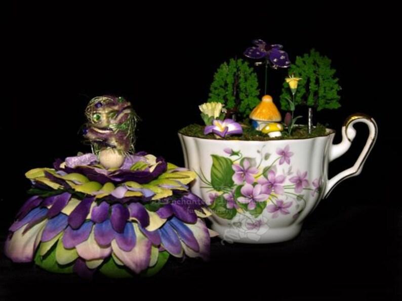 Faerie Windsor and her Teacup Nursery Fairy OOAK image 0