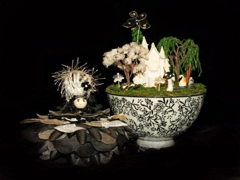 Faerie Star and her Teacup Nursery Fairy OOAK Flowers image 0