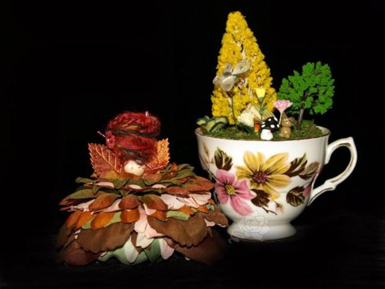 Faerie Vale and her Teacup Nursery Fairy OOAK Diorama image 0