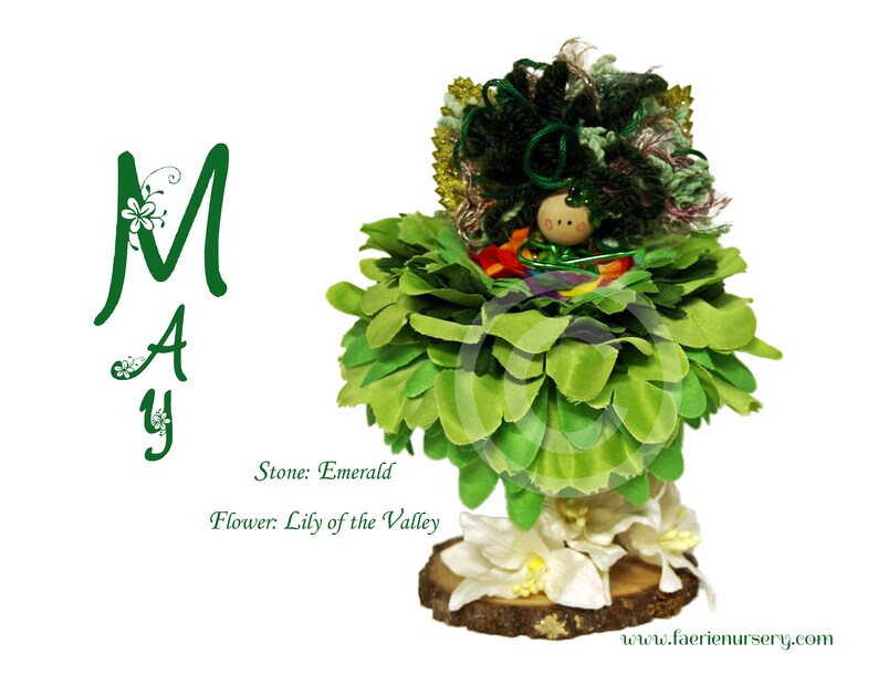 The Calendar Faeries  May  Emerald Lily of the Valley image 0