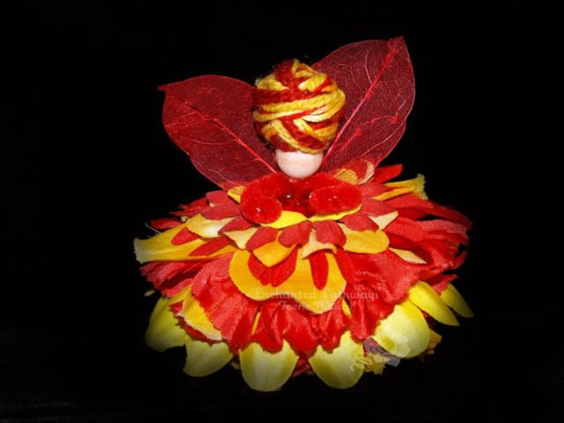 Vienna the Flower Petal Faerie Fairy OOAK image 0