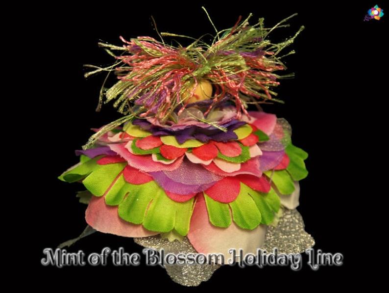 Mint of the Blossom Holiday Line Fairy Faerie OOAK Doll image 0