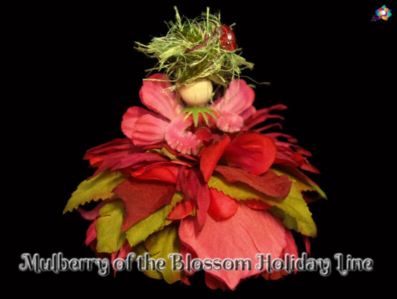 Mulberry of the Blossom Holiday Line Fairy Faerie OOAK image 0
