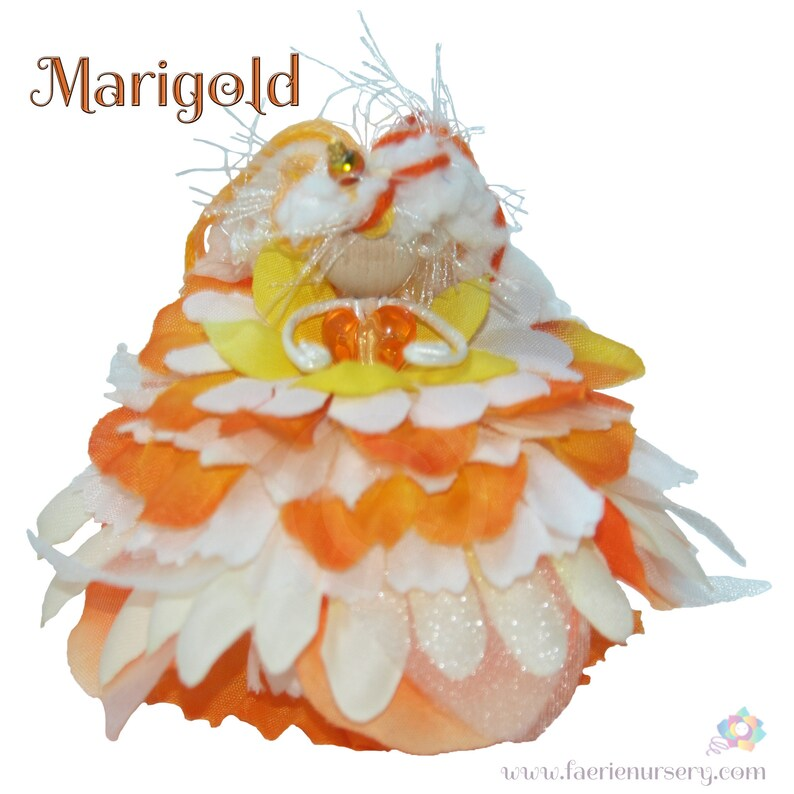 Marigold the Flower Petal Faerie Fairy OOAK image 0