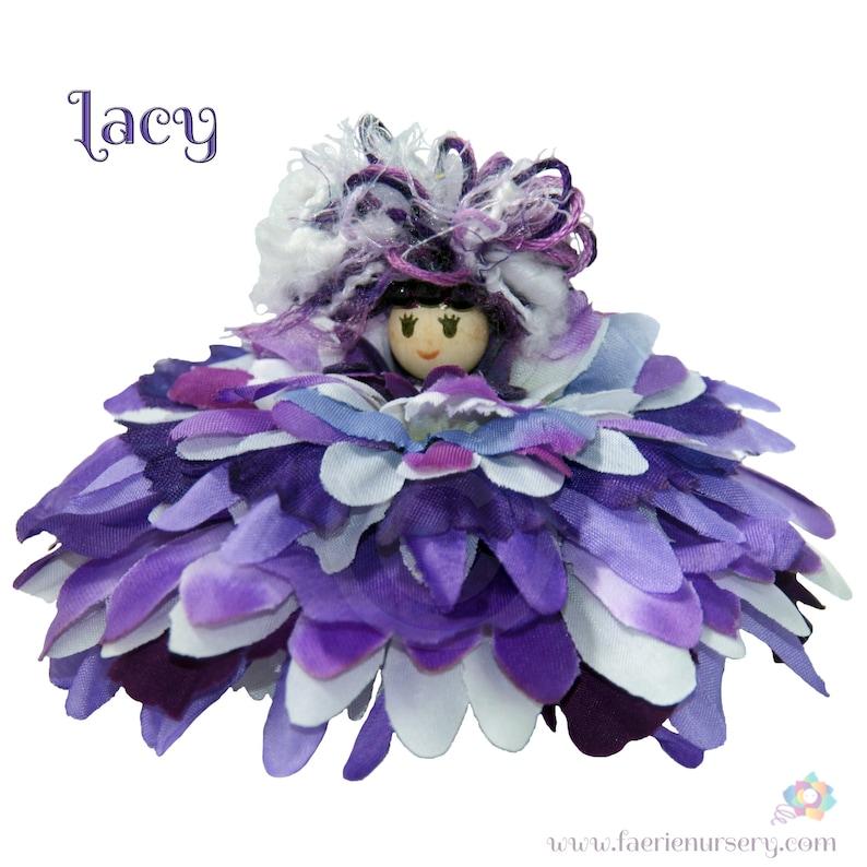 Lacy the Flower Petal Faerie Fairy OOAK image 0