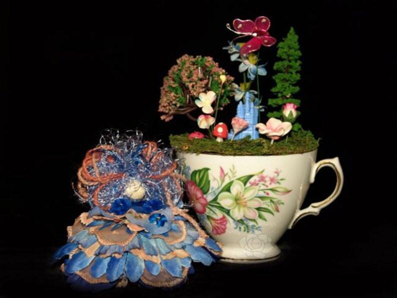 Faerie Button and her Castle Teacup Nursery Fairy OOAK image 0