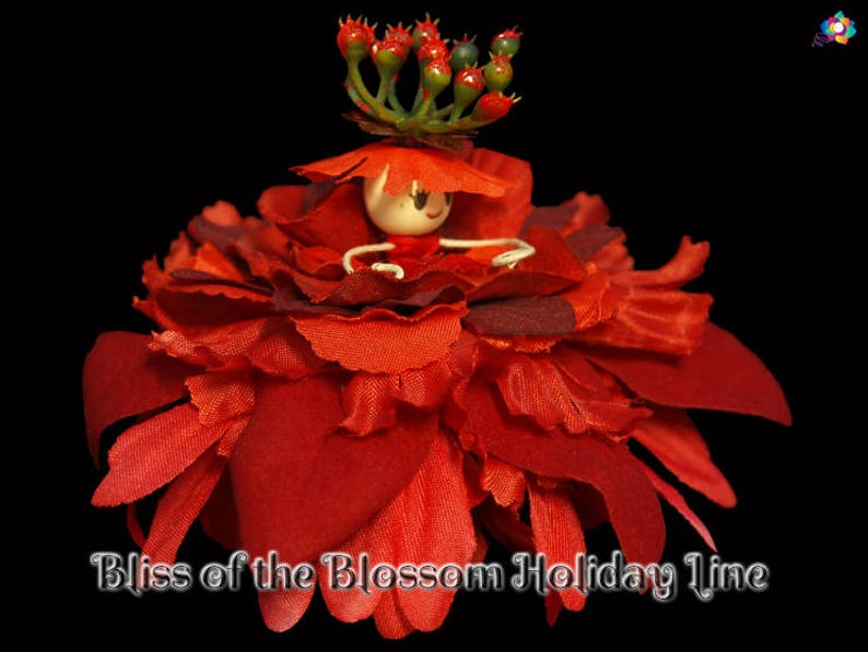 Bliss of the Blossom Holiday Line Fairy Faerie OOAK Doll image 0