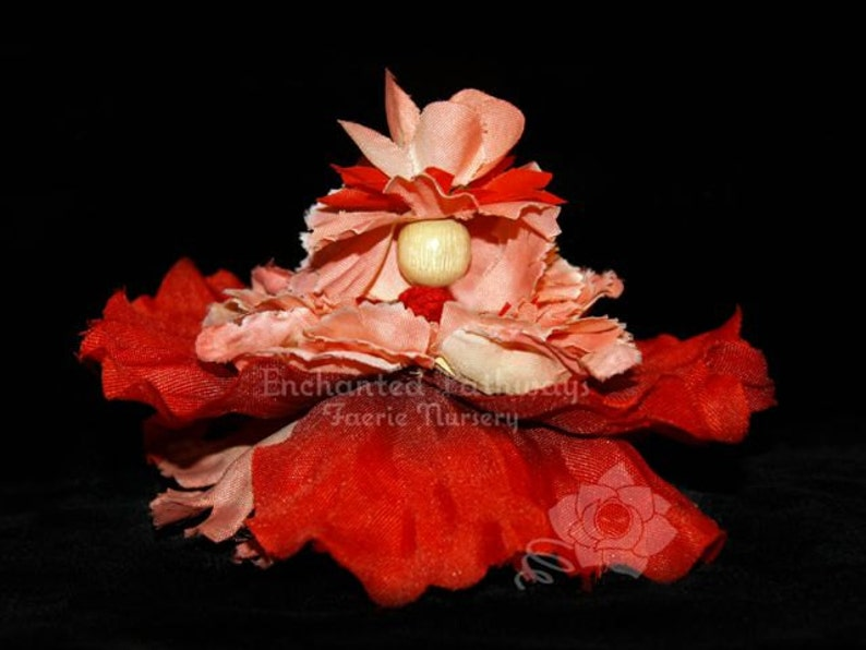 Chandra the Flower Petal Faerie Fairy OOAK image 0