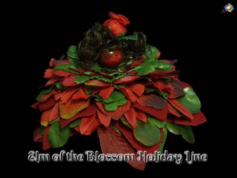 Elm of the Blossom Holiday Line Fairy Faerie OOAK Doll image 0