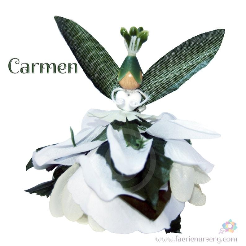Carmen the Flower Petal Faerie Fairy OOAK image 0