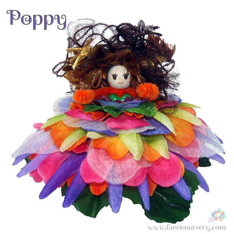 Poppy the Flower Petal Faerie Fairy OOAK image 0