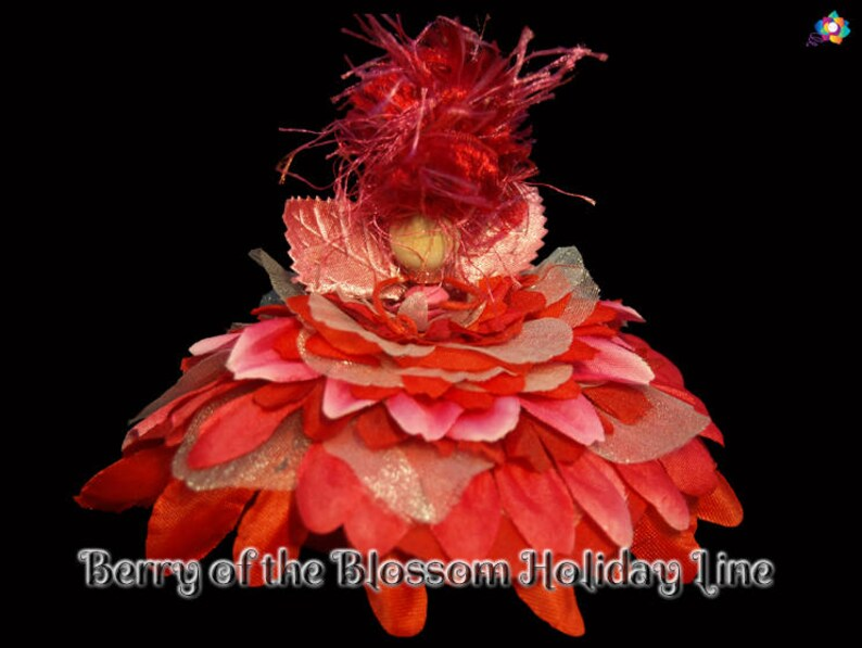Berry of the Blossom Holiday Line Fairy Faerie OOAK Doll image 0