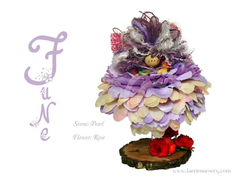 The Calendar Faeries  June  Pearl Rose OOAK Fairy image 0