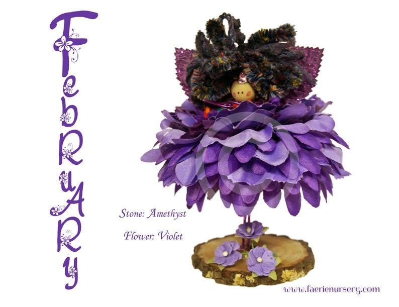 The Calendar Faeries  February  Amethyst Violet OOAK image 0