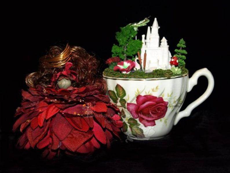 Lady Regina and her Teacup Nursery Fairy OOAK image 0