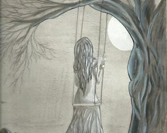 Moonlight Original Art  by Noelia Garcia