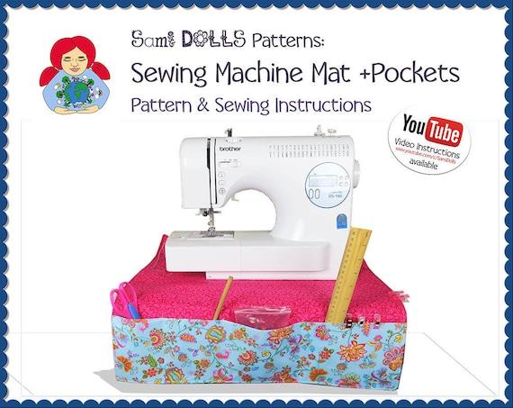 Sewing Machine Mat Pad Organizer Pattern DIY Tutorial PDF Etsy Cool Sewing Machine Mat Tutorial