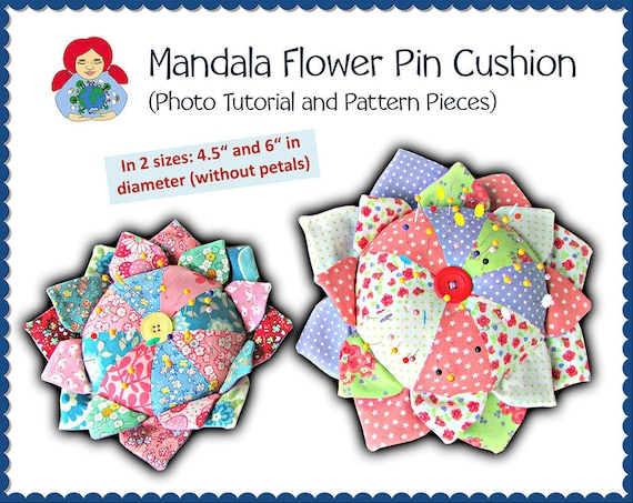 Mandala Flower Pin Cushion Pattern DIY Tutorial PDF