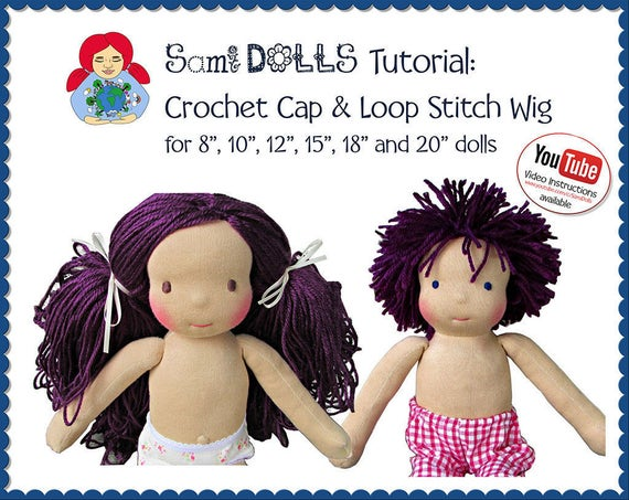 Make your own doll wig tutorial ( crocheting a cap and sewing the ... | 453x570