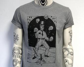 Bounty Hunter, unisex t-shirt, skull juggler, skulls, juggling, circus, freak show