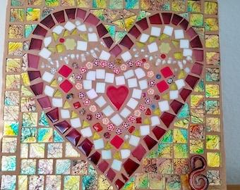 Sweet Mosaic Heart