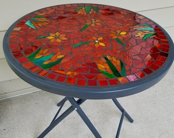 Mosaic Table Etsy