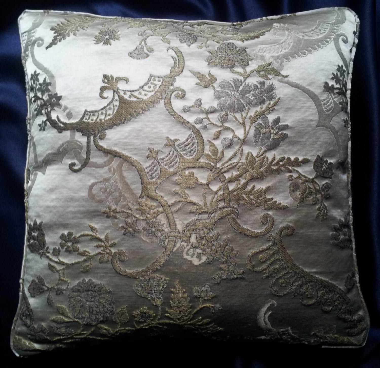 Kissen decken Elfenbein und Gold Seidenbrokat Rubelli Madame