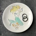 Mermaid  Big Cake Plate