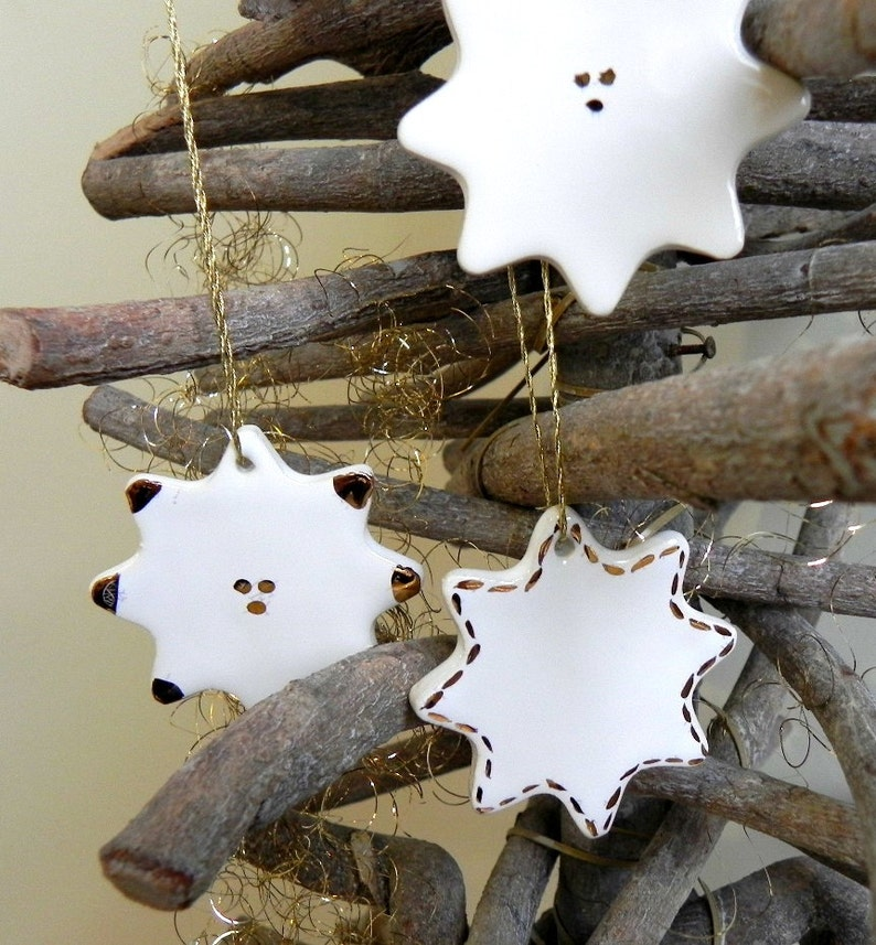 Christmas Ideas White Ceramic Christmas Stars Xmas Decor Gifts Deer Luxury Home Decoration 5 White Gold Christmas Pottery Ornaments