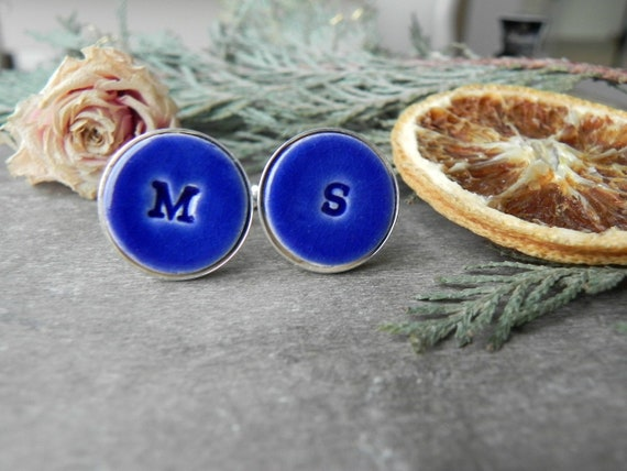 Cufflinks bright blue druzy gifts wedding outfit accessories for groomsmen gifts for husband or father custom orders welscome