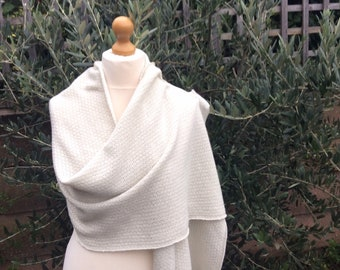 584e0a707c0189 Pure Cashmere Pearl Grey Bridal Shawl with Silver Shimmer Extra Large Knit  Pashmina . Bridal Glitter Stole . Two sizes . Mother's Day Gift