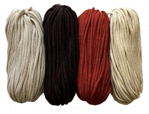 Mid Grey cotton yarn 5mm cotton rope zpaghetti yarn knitting basket rug macrame