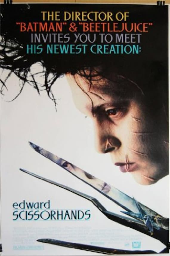 Edward Scissorhands Johnny Depp Repro Advert POSTER