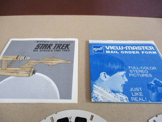 Star Trek Gaf View Master Stereo Picture Reels B555 1974 Mr Etsy