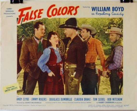 Hopalong Cassidy Returns Lobby Card Movie Poster Western William Boyd