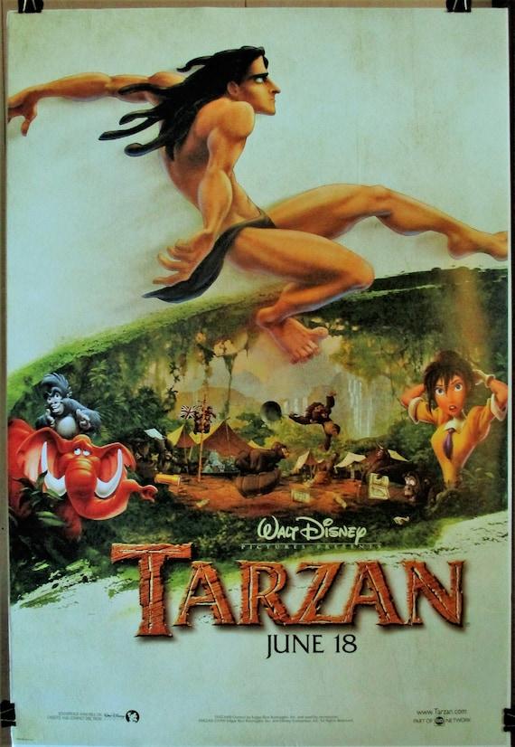 Tarzan 1999 Original Rolled Advance 27 X 40 Movie Etsy
