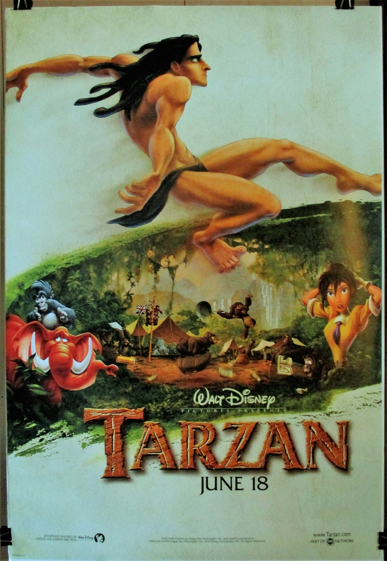 TARZAN 1999 Original Rolled Advance 27 X 40