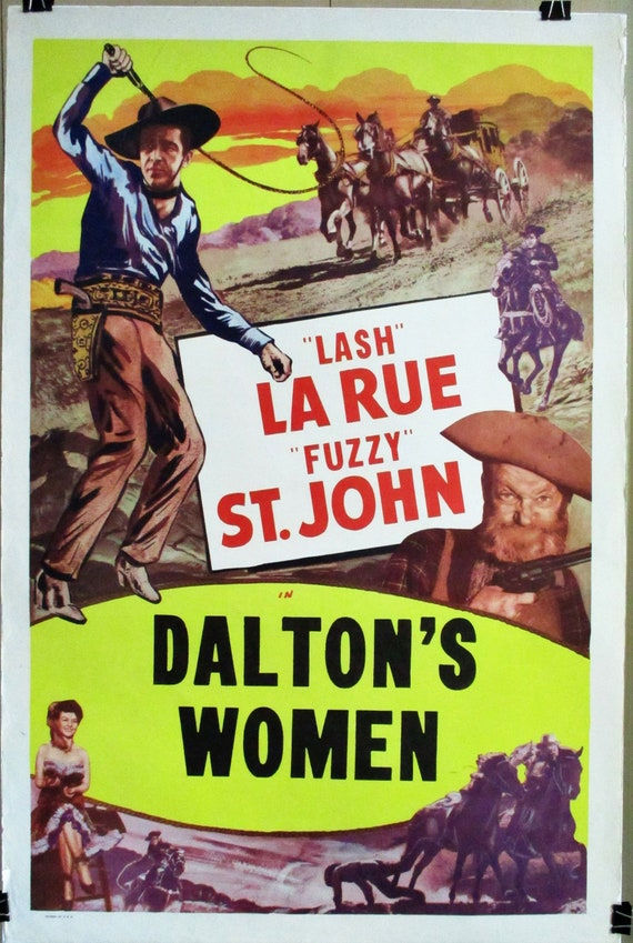 "/""Lash/"" Larue Cult Western movie poster 19x36 inches King of the Bullwhip 1950"