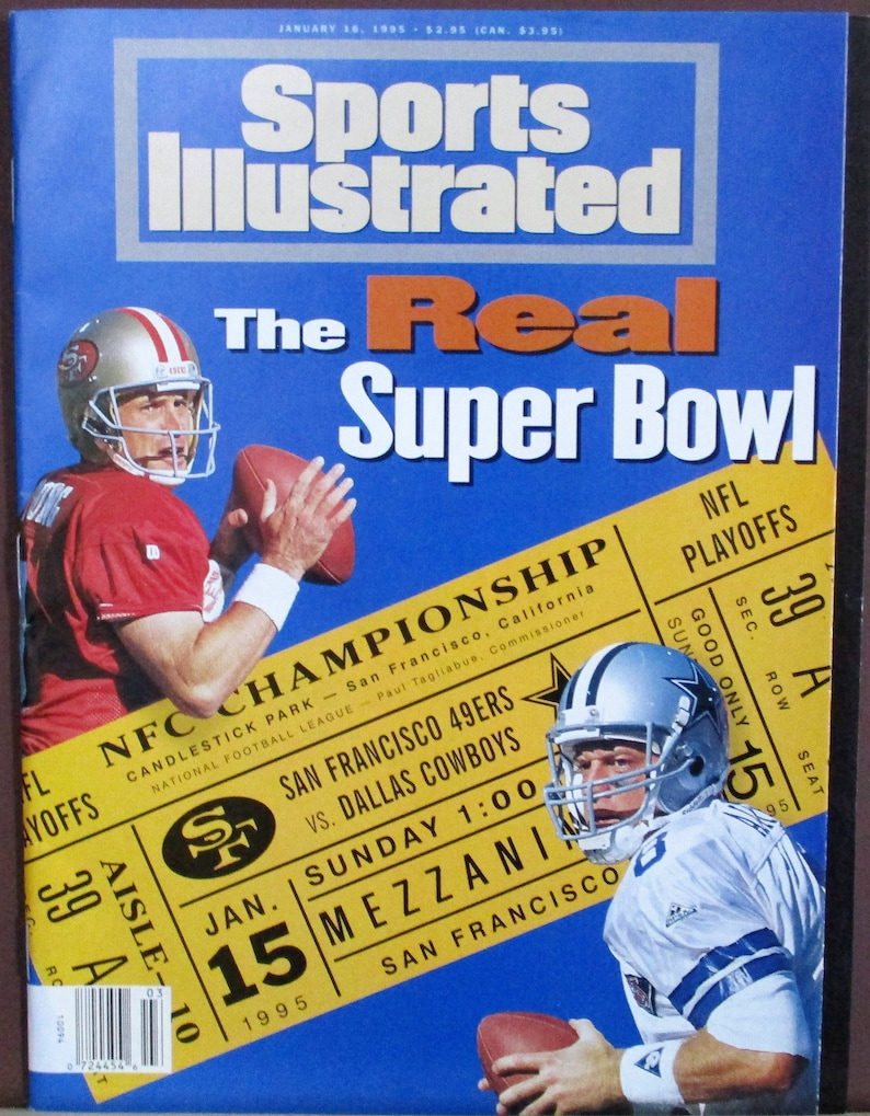 Steve Young vs Troy Aikman 1161995 Sports Illustrated The Real Superbowl NFC Championship 49ers vs Dallas Cowboys Football