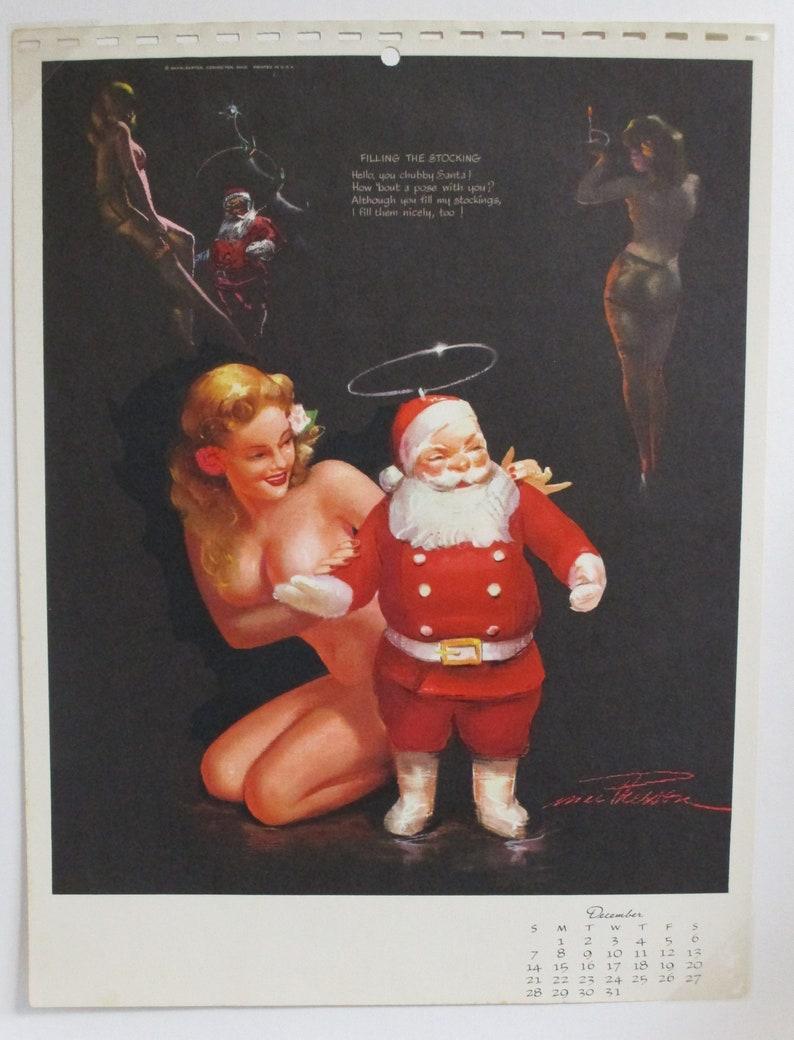 47433fcdf7e81b Earl Macpherson December 1947 Vintage Pin-up Calendar Page | Etsy