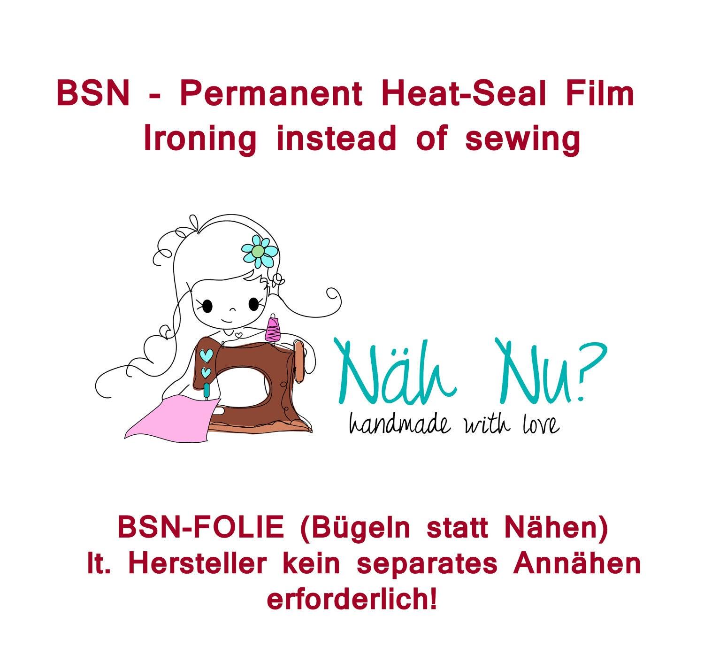 BSN Folie Bügeln statt Nähen dauerhafte Verbindung von