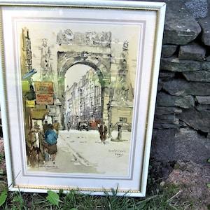 Jan Korthals Windsor Castle 1964 Original Lithograph