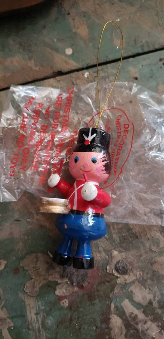 Vintage Christmas Ornament Dason Itnl Products Drummer Drummer Boy Nutcracker