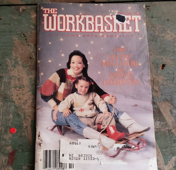 Vintage The Workbasket Magazine October 1989 Crafting Cross Stitch Quilting